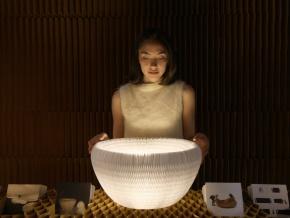 molo urchin softlight - уникальный светильник из бумаги