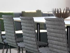 Johanson Design Rib - современный стул с графическим дизайном