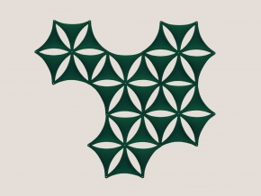 Abstracta Airflake - акустическая подвесная ширма-перегородка