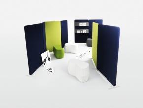 Abstracta Softline Floor - мобильные акустические ширмы-перегородки