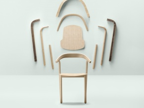 Alki Makil - деревянные стулья в лаконичном стиле
