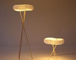 Настольный и напольный светильник из крафт бумаги molo cloud softlight