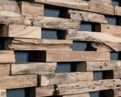 Настенные панели из восстановленной древесины Wonderwall Studios Train
