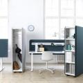Акустическая напольная перегородка со встроенным шкафом Abstracta Domo Storage