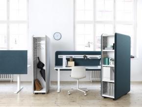 Abstracta Domo Storage - акустическая напольная перегородка со встроенным шкафом