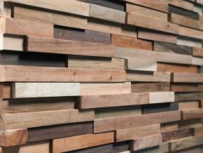Wonderwall Studios Blunt - декоративные стеновые панели из восстановленной древесины