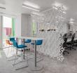 Дизайн офиса с использованием декоративных панелей Abstracta Airflake